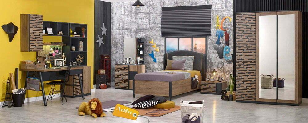 Εφηβικό Κρεβάτι με αποθηκευτικό χώρο Active 2152-17-41-00