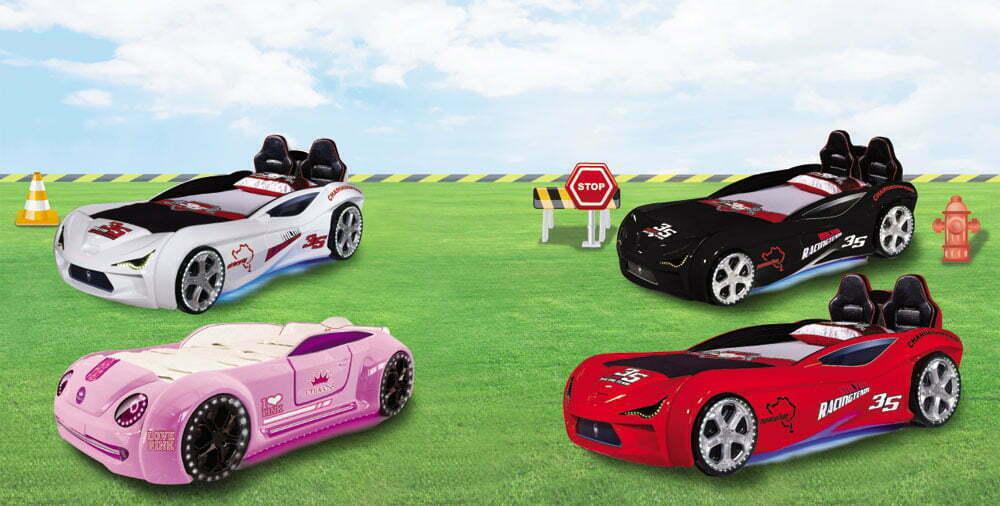 Παιδικό Κρεβάτι - Αυτοκίνητο Extreme Pink PitStop 2130-08